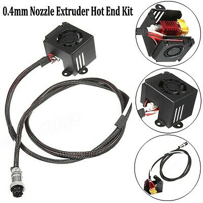 3D Printer MK8 Extruder Hot End Kit 0.4mm Nozzle For Creality CR-10 CR-10S CR10S