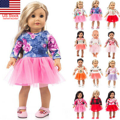 US Cute Clothes Dress 18Inch Accessory Girl Toy Doll Accessory For Girl Doll