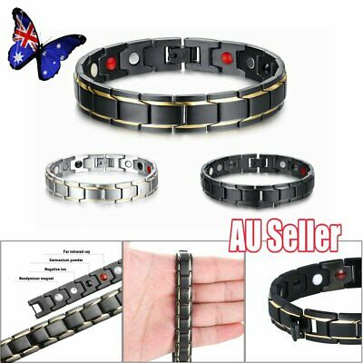 Therapeutic Energy Healing Bracelet Stainless Steel Magnetic Therapy Bracelet VW
