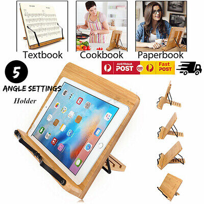 Wiztem Tulip Book Stand Portable Wooden Reading Holder Desk Book Stand AU