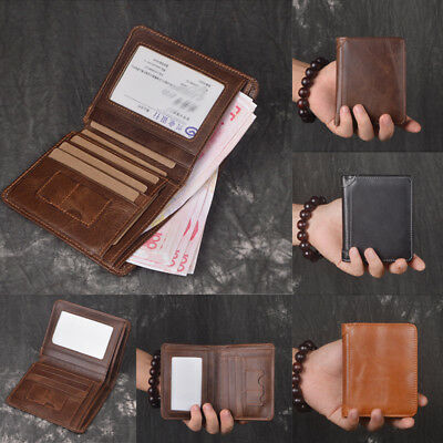 AU Stock Mens Wallet Quality Leather Boutique Trifold Zip Coin Purse Card Holder