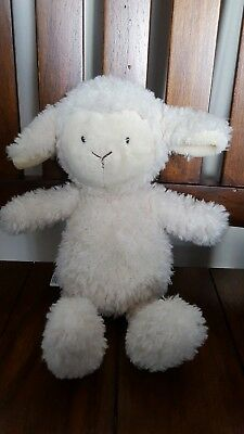 M S Marks and Spencer lamb sheep cream white soft toy teddy baby child  comforter 408fa5ad5