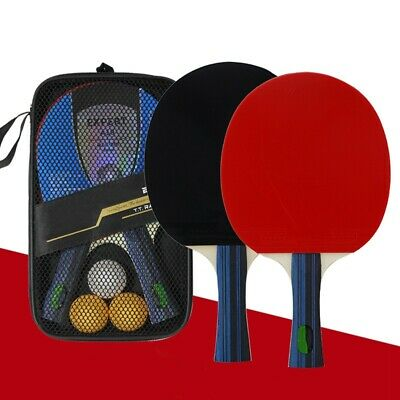 Table Tennis Ping-Pong Set - 2 Bats/3 Balls -Oversized Paddle Bat Rubber Outdoor