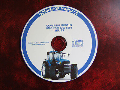 NEW HOLLAND 60 Series Workshop Service Manual 8160 TO 8560 ON CD OR