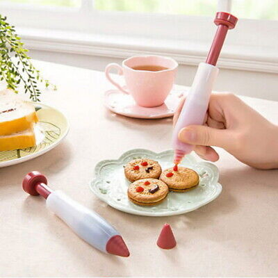 Silicone Food Writing Pen Cake Cookie Cream Pastry Chocolate Decorating Tool #D