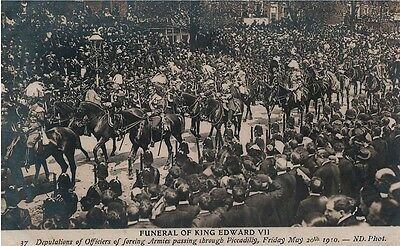 Vintage Postcard - Funeral of King Edward VII  ND.Phot. #37