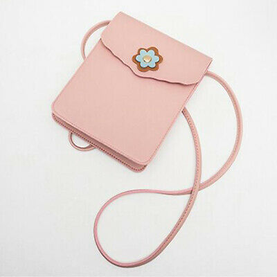 Women Trendy Small PU Leather Mobile Phone Bag Shoulder Bag Messenger ONE
