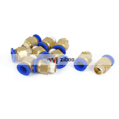10Pcs 10mm Tube 1/4BSP Male Thread Quick Air Fitting Coupler Connec