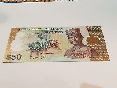 Kerajaan. Brunei. Banknote. Fifty Dollar Note. 50$.  2004. P28. UNC