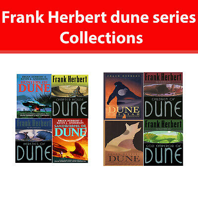 Dune Series Frank Herbert Collection 8 Books Set Fiction pack NEW 1 to 8 book