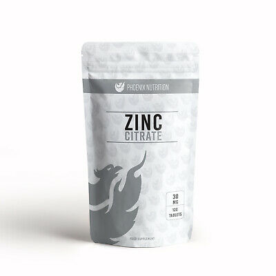 Zinc Citrate | 30mg x 120 Tablets | Triple Strength, 300% RDA