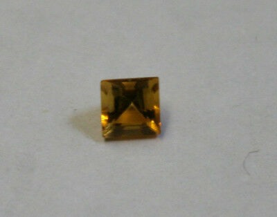 Natural Madeira Red Citrine Gemstone 5X5Mm Square Cut Faceted 0.6Ct Gem Ci38C