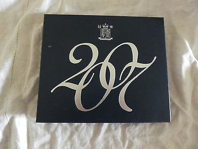 2007  Royal Mint UK PROOF SET OF 12 COINS BOXED WITH COA