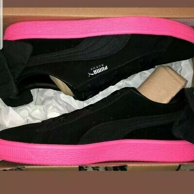 Puma Basket Suede Bow Block Black Pink Women s Sneakers Satin Back bow. 2201faed0
