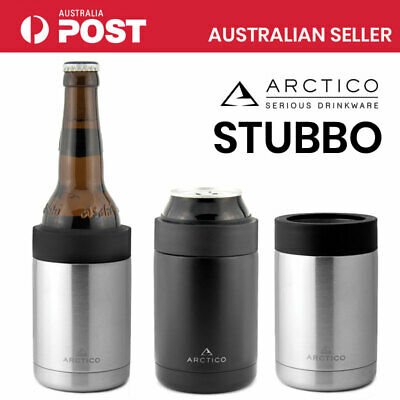 ARCTICO Stubby Holder Cans & Beer Bottles Stainless Steel Double Wall Insulated