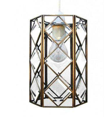 Loxton Lighting PMBV03 Antique Brass Lantern w/ Bevelled Glass Shade, BNIB, (I)