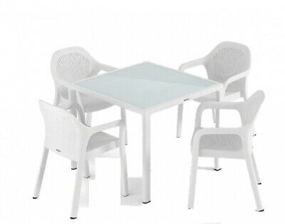 Table de jardin Kansas Best ovale plastique Marron 192x105cm ...