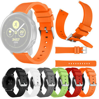 Sport Soft Silicone Leather Band Replacement Band Strap For Samsung Watch Active