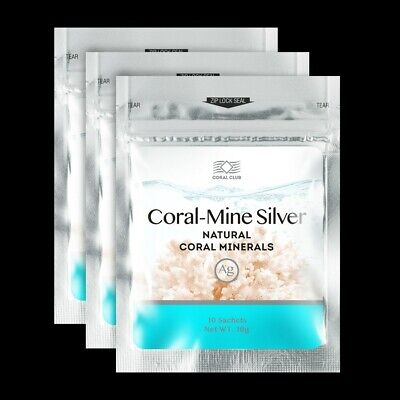 Coral Mine Natural Water Minerals Sea 30 Sachets 1g Each Coral Club