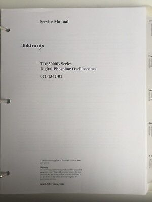 Tektronix Tds5000B Digital Phosphor Oscilloscopes Service Manual