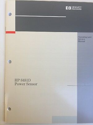 Agilent/hp  8481D Power Sensor Operating & Service Manual