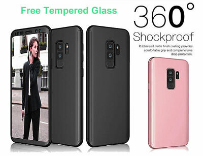 For Samsung Galaxy S9 Case 360 Shockproof Cover Tempered Glass Screen Protector