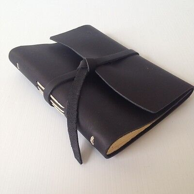 RUSTICO Parley's Leather Journals Diary Notebook with Wrap Closure Gifts  Black