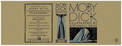 Facsimile Dust Jacket ONLY Herman Melville Moby Dick Rockwell Kent 1930 1st Ed