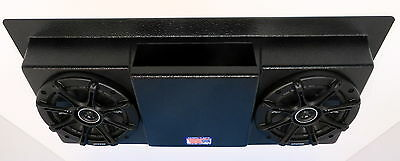 Empty Roof Mount Overhead Stereo Radio Console Fits Utv Golf Cart Tractor Truck