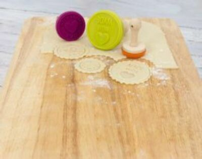 Wooden Cookie Stamp Set
