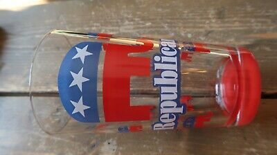 Politics Republican Glass Cup 5.75""