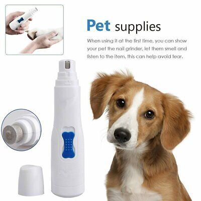 Useful Electric Dog Cat Pet Claw Toe Nail Trimmer Care Grooming Tools Portable