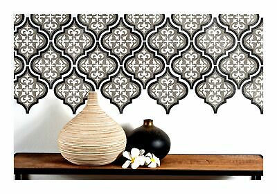TEMARA 3-LAYER Moroccan Tile - Furniture Wall Floor Stencil for Painting