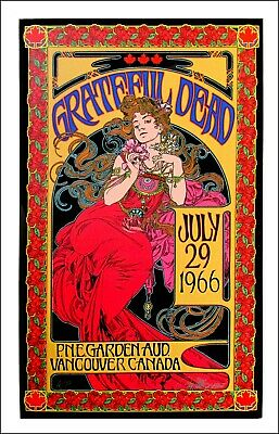 Grateful Dead poster 1966 -2016 Record Store Day Signed  Low # 22/150 Bob Masse