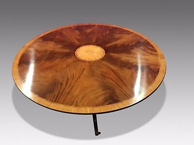 5ft Stunning Sunburst Flame mahogany circular Grand dining table.
