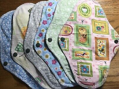Set/6 Reusable Menstrual Pads (Picture Perfect Spring) NWOT Momma Cloth