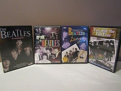 """The BEATLES """" Fun with the Fab Four 4 DVD""""s in LIKE NEW condition"""