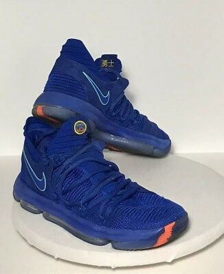 c4e9ce7b24c3 NIKE ZOOM KDX BasketBall Shoes Blue KD 10 Anniversary Athletic ...