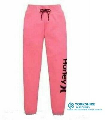 Hurley Girls Joggers Pants Trousers Gym Sports  Pink Size Youth Medium   REF D52