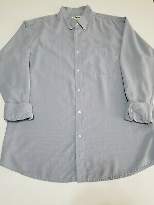26ead65adf7 Mens Tri-Mountain Shirt Size 2XL Button Front Chest Pocket Collar Blue White