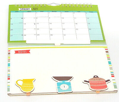 1x 2019 New Hanging Wall Mini Memo Calendar Family Organiser With Pen and Pegs L