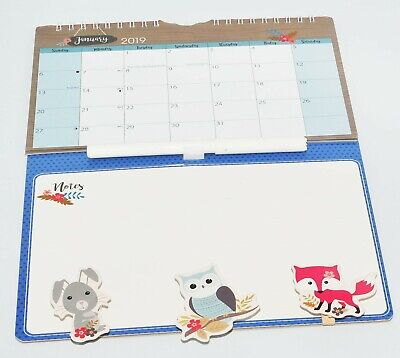 1x 2019 New Hanging Wall Mini Memo Calendar Family Organiser With Pen and Pegs A