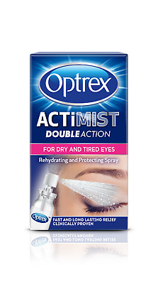 OPTREX ACTiMIST DOUBLE ACTION EYE SPRAY FOR DRY AND TIRED EYES NEW/BOXED 10ml