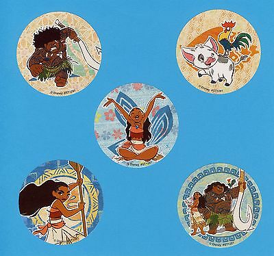 15 Moana Favorite Poses Party Favors Rewards Large Stickers
