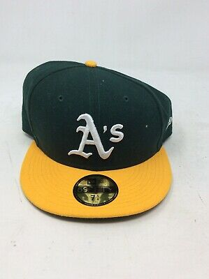 superior quality fdccb 97f11 New Era Oakland Athletics HOME 59Fifty Fitted Hat MLB Cap (7 5 8)