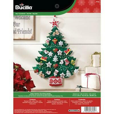"Bucilla 17x24"" Felt Advent Calendar Kit - Nordic Tree"