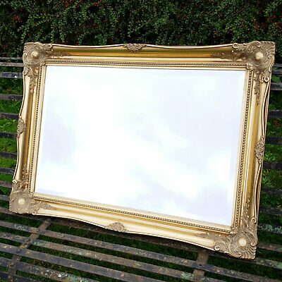 Large C18th Style 3'x4' Flared Gilt Framed Wall Mirror - Early C20th (Antique)