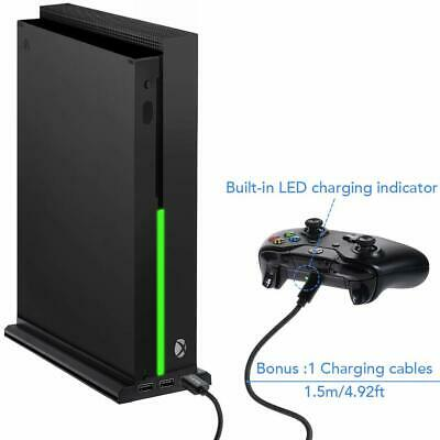Xbox One X Vertical Stand Controller Charing Cooling Fan 3 USB Port Hub