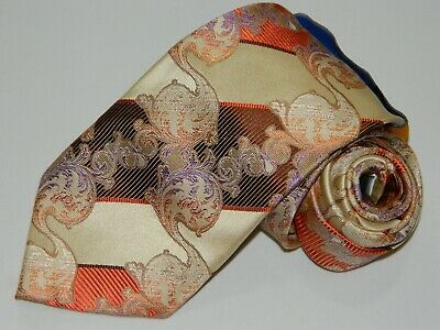 Steve Harvey Collection 100 Silk Tie Black And Silver With Floral