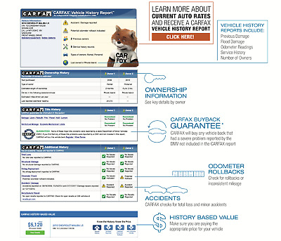 Instant Delivery Original CARFAX Reports in PDF FORMAT Authentic